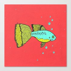 it's a goopie fish Canvas Print
