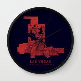 Las Vegas Map Wall Clock