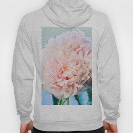 Peony Flower Photography, Pink Peony Floral Art Print Nursery Decor A Happy Life  - Peonies 1 Hoody