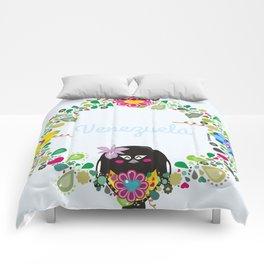Flower Garland Corona Florida Comforters
