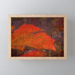 Fiery Wall Framed Mini Art Print