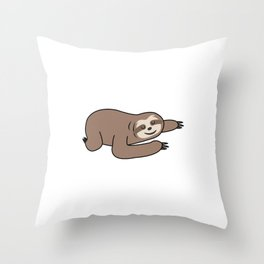 Funny, Lazy But Cute Tshirt Design I like the Floor Sloth Throw Pillow