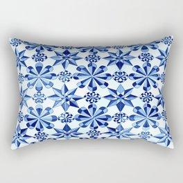 Frisia Blue White Dutch German Baltic Sea Pattern Rectangular Pillow