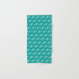 Wave Pattern | Teal and White Hand & Bath Towel
