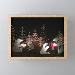 Polar Bear Christmas Framed Mini Art Print