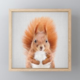 Squirrel 2 - Colorful Framed Mini Art Print