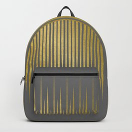 Linear Grey & Gold Backpack