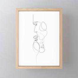 Lovers - Minimal Line Drawing Art Print 2 Framed Mini Art Print