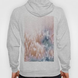 Etherial light in blush and blue - Glitch art Hoody