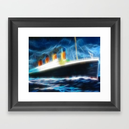 Magical Titanic Framed Art Print
