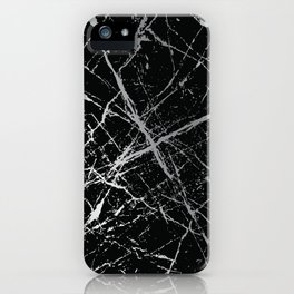Silver Splatter 090 iPhone Case