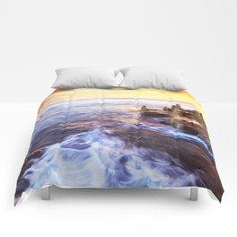 Lonas planet evening sea Comforters