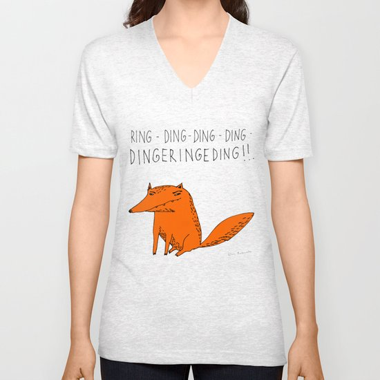 What does the fox say??? Unisex V-Neck