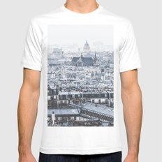 Rooftops White Mens Fitted Tee MEDIUM