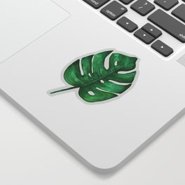 Watercolor Monstera Leaf Sticker | Tropical Watercolor Sticker