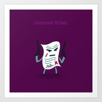 A&A - Contract Killer. Art Print