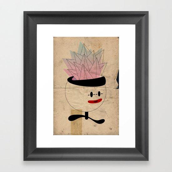 palla con piramidi in testa Framed Art Print