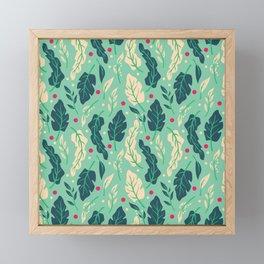 Vintage Floral Pattern 005 Framed Mini Art Print