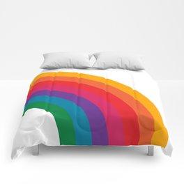 Retro Bright Rainbow - Right Side Comforters