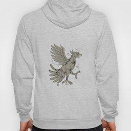 Cuauhtli Glifo Eagle Symbol Low Polygon Hoody