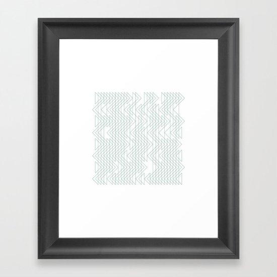 #402 Shoal x-ray – Geometry Daily Framed Art Print