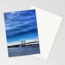 Iowa-Illinois Memorial Bridge - Looking Towards Moline Stationery Cards