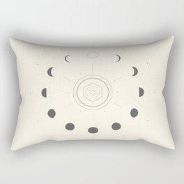 Moon Phases Light Rectangular Pillow