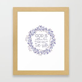 Christian Bible Verse Quote - Psalm 46-5 Framed Art Print