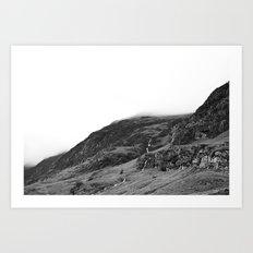 Mountains, Highlands, Scotland. Art Print