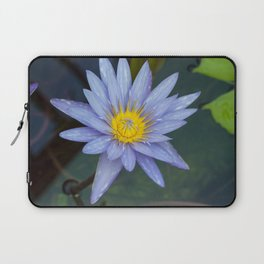 Water Lily Blue Laptop Sleeve