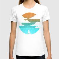 T-shirts featuring Go West (sail away in my boat) by Picomodi