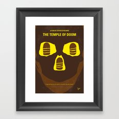 No517 My The temple of doom minimal movie poster Framed Art Print