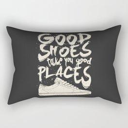 Good Shoes Good Places Rectangular Pillow