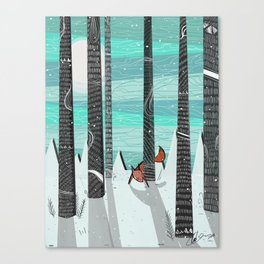 Adventures is Out there - Red Fox Canvas Print