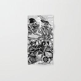 Calavera Cyclists | Black and White Hand & Bath Towel