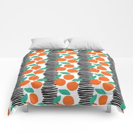 Citrus and Stripes Comforters