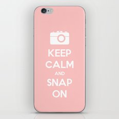 Keep Calm and Snap On iPhone & iPod Skin