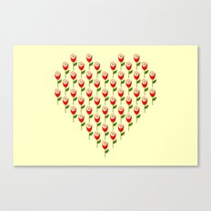 Heart in Bloom Canvas Print