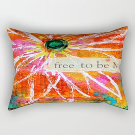 Free to Be ME Rectangular Pillow
