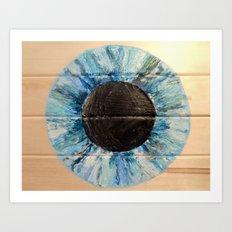 Ice Blue Iris Art Print