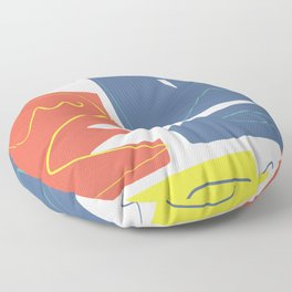 The three primaries abstract Floor Pillow