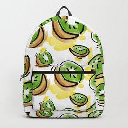 Watercolored Kiwi Backpack