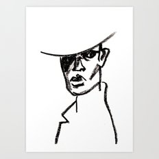 girl with hat Art Print