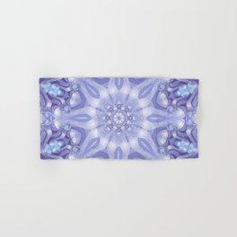 Light Blue, Lavender & White Floral Mandala Hand & Bath Towel