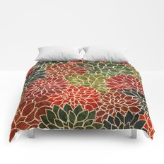 Floral Abstract 7 Comforters