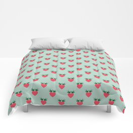 Strawberry Love Hearts and Love Birds Comforters