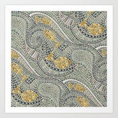 mosaic fish Art Print