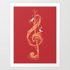 Natural Melody Art Print