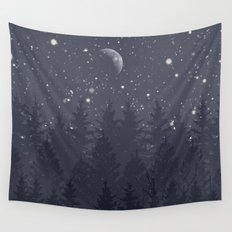 Night Full Star Wall Tapestry