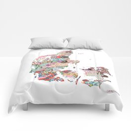 Danemark map Comforters